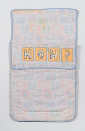 2019, Embroidery thread, sleeping bag.