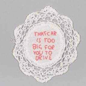2019, Embroidery thread, doily.
